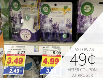 Air Wick Products As Low As 49¢ At Kroger