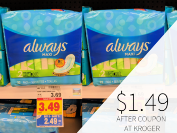 Always Products Only $1.49 At Kroger