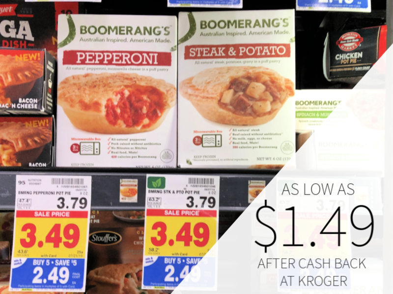 Boomerang's Pot Pie As Low As $1.49 At Kroger