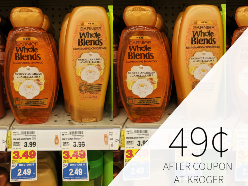 graphic regarding Garnier Whole Blends Printable Coupon named Garnier Full Blends Hair Treatment Basically 49¢ At Kroger