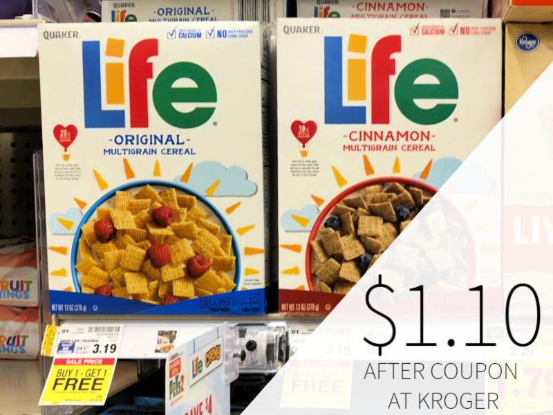 Quaker Life Cereal Only $1.10 At Kroger