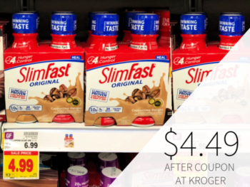 Slimfast Shakes Only $4.49 At Kroger
