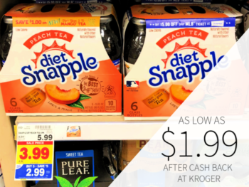 Snapple Products As low As $1.99 At Kroger