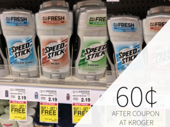 Speed Stick Only 60¢ At Kroger
