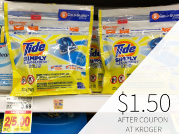 Tide Simply Only $1.50 At Kroger