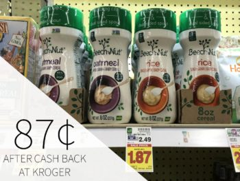 Beech-Nut Cereal Just 87¢ At Kroger