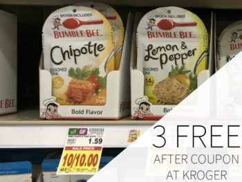 3 FREE Bumble Bee Tuna Pouches At Kroger