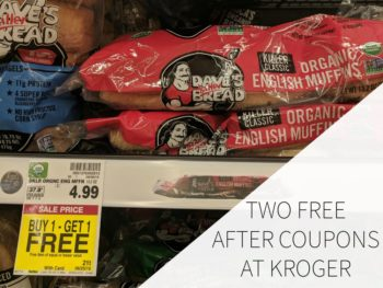 Two FREE Dave's Killer Bread English Muffins At Kroger