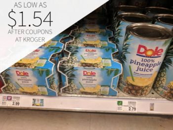 Dole Canned Pineapple Juice As Low As $1.54 At Kroger