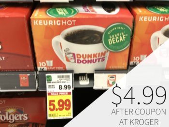 Dunkin' Donuts K-Cups Just $4.99 Each At Kroger