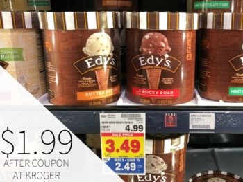 Edy's Ice Cream Just $1.99 Each At Kroger