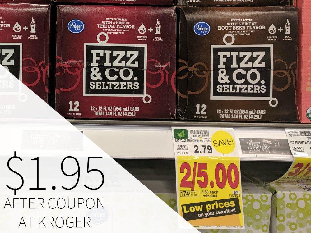 Kroger Fizz & Co. Seltzer Just $1.95