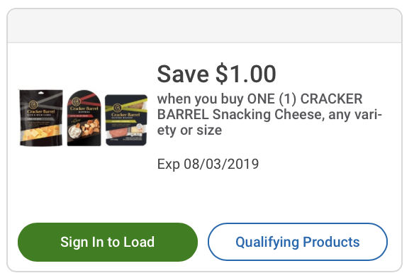 More Free & Cheap Cracker Barrel Snacking Cheeses