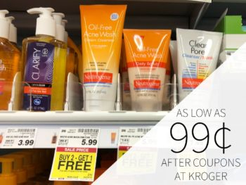 New Neutrogena Coupons - Acne Wash As Low As 99¢ Each At Kroger