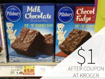 Pillsbury Brownie Mixes Just $1 Per Box At Kroger