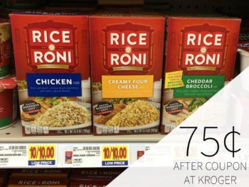 Rice-A-Roni Just 75¢ Per Box At Kroger
