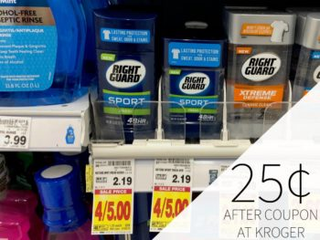 Right Guard Sport Just 25¢ Each At Kroger