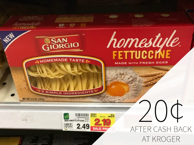 San Giorgio Homestyle Pasta Just 20¢ At Kroger