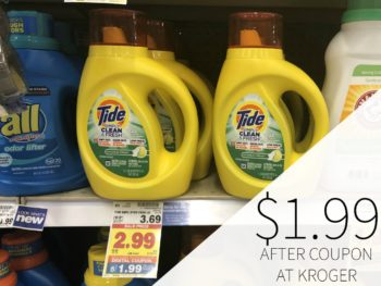 Tide Simply Detergent Just $1.99 At Kroger