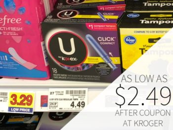 New U By Kotex Coupons - Tampons As Low As $3.49 At Kroger