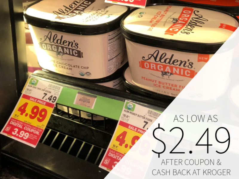 Alden's Organic Ice Cream As Low As $2.49 At Kroger