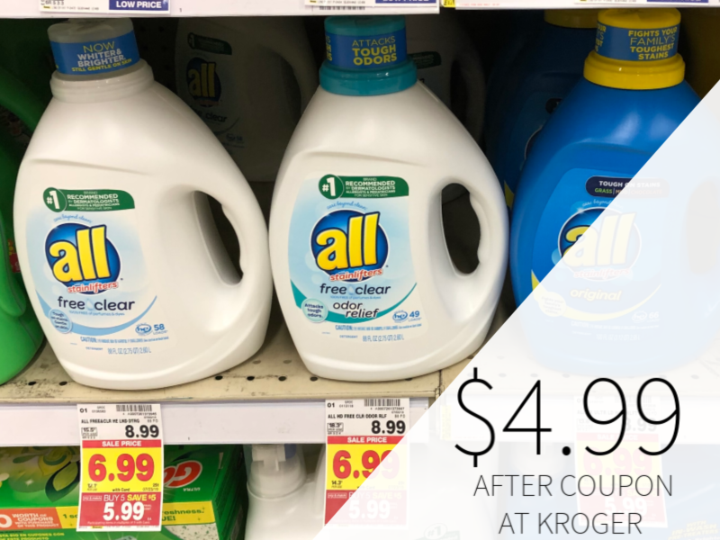All Liquid Laundry Detergent Only $4.99 At Kroger