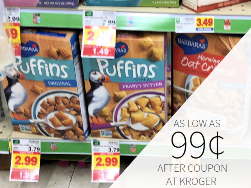 Barbara's Cereal Only 99¢ At Kroger