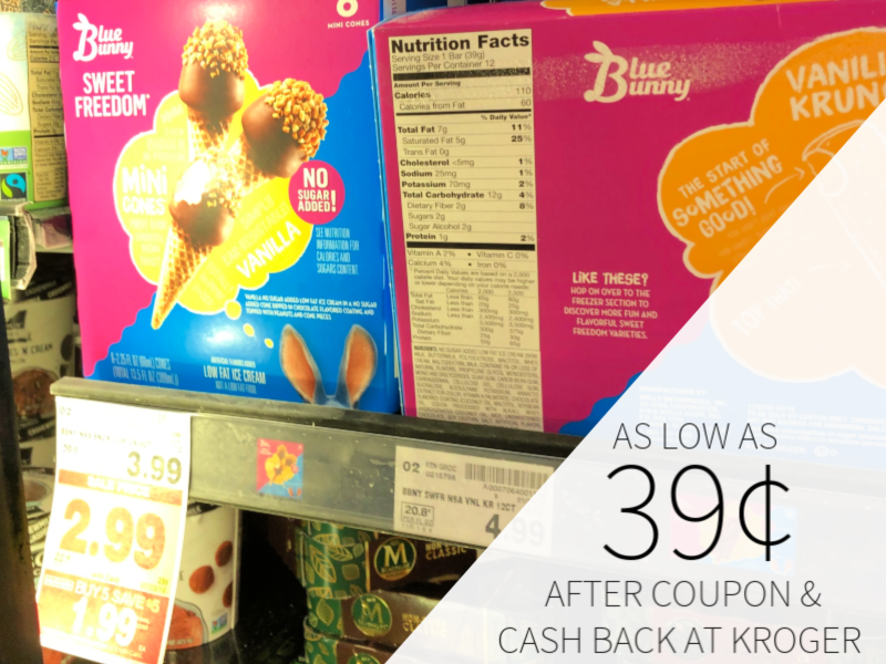 Blue Bunny Ice Cream Novelties As Low As 39¢ At Kroger