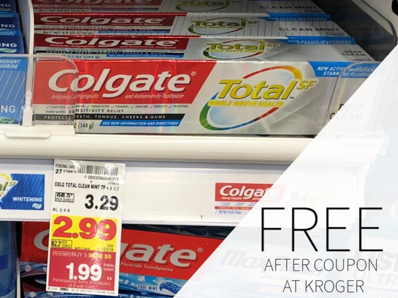 FREE Colgate Toothpaste During The Kroger Mega Sale