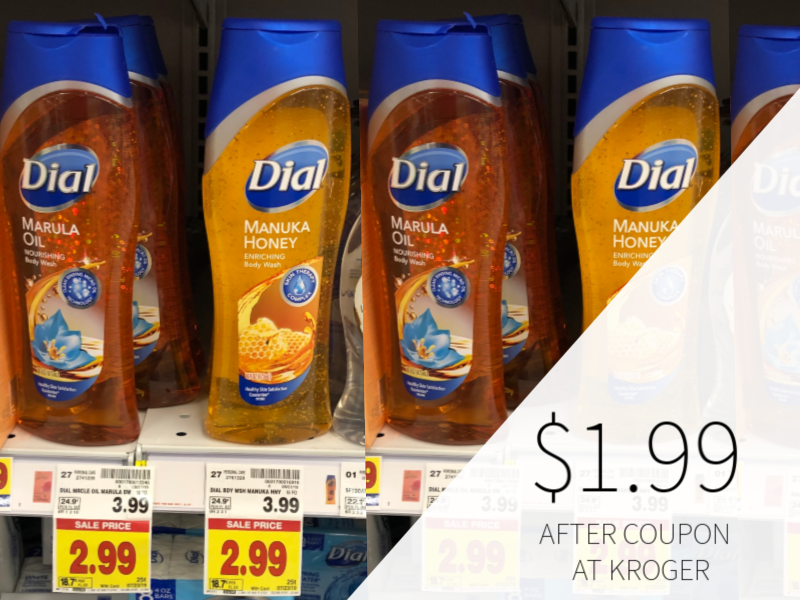 New Dial Coupons - Body Wash Only $1.99 At Kroger
