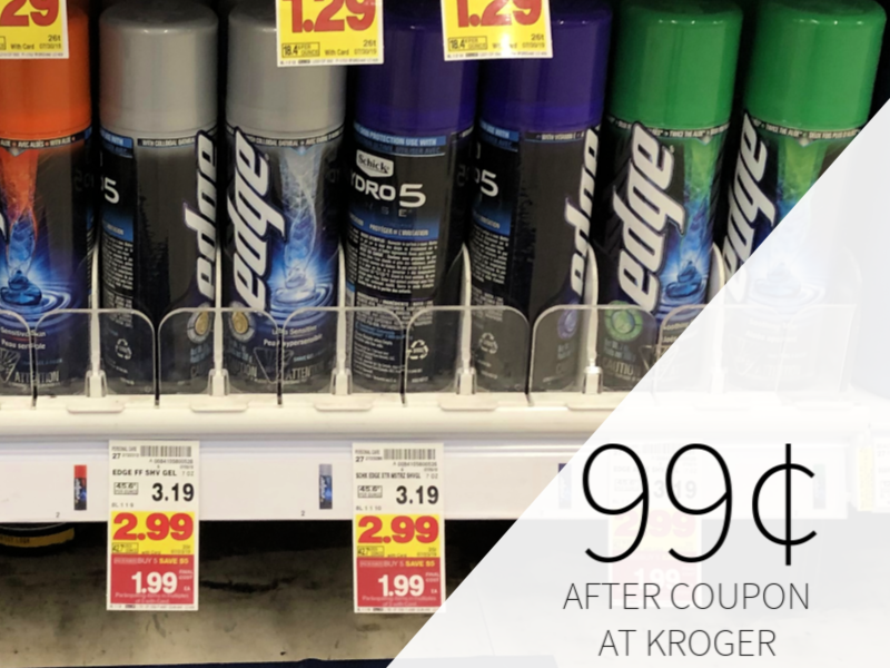 Edge & Skintimate Shave Gel Only 99¢ During The Kroger Mega Sale