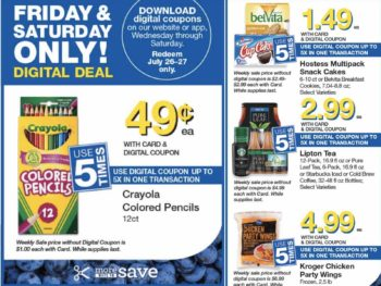 Load Your Coupons For The 2 Days Of Digital Deals (Valid 7/26 & 7/27)