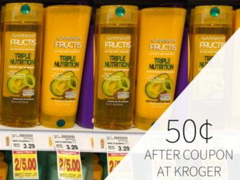 Garnier Fructis Shampoo & Conditioner Only 50¢ At Kroger