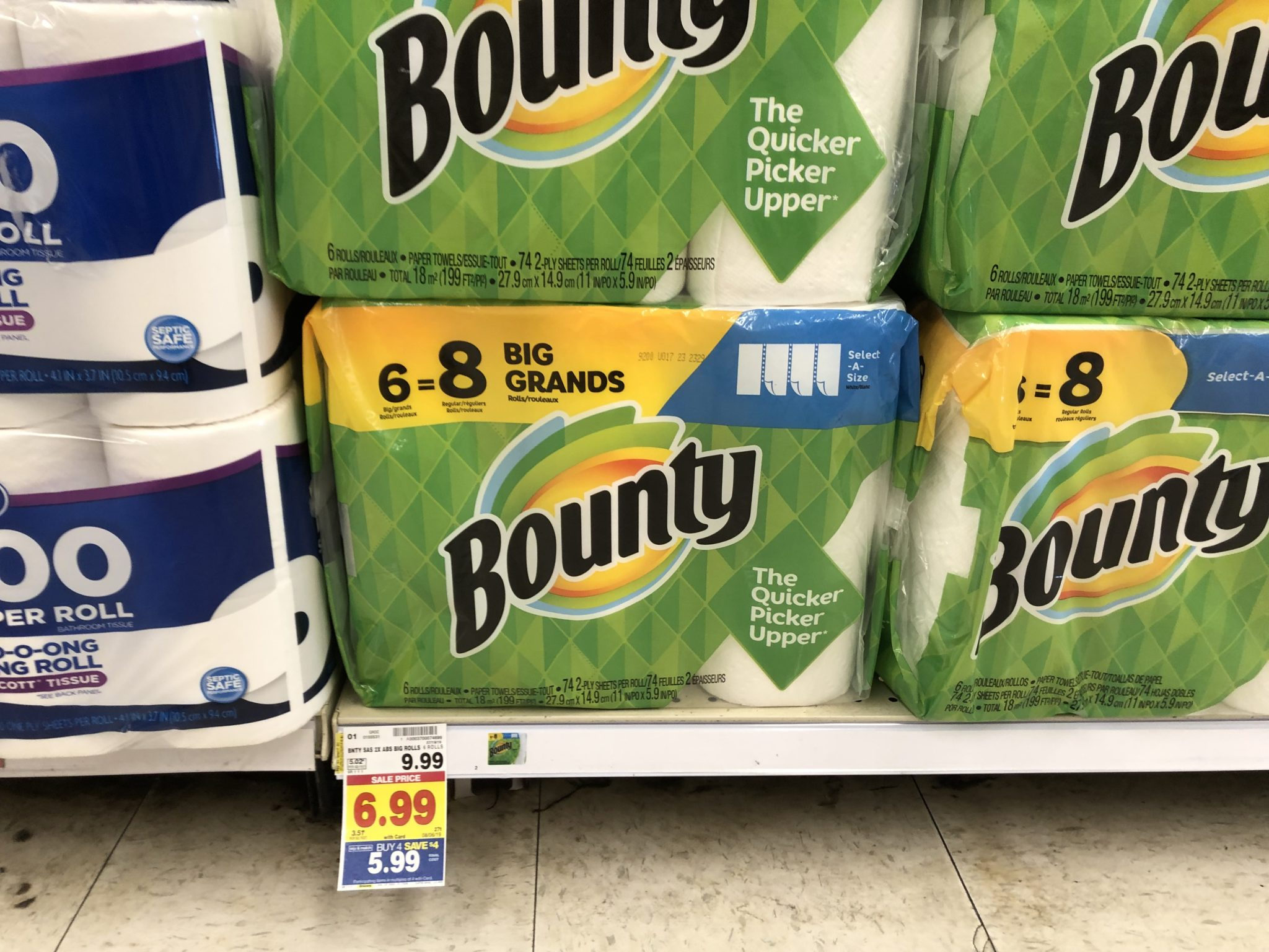Charmin Only $3.99 & Bounty Only $4.99 At Kroger