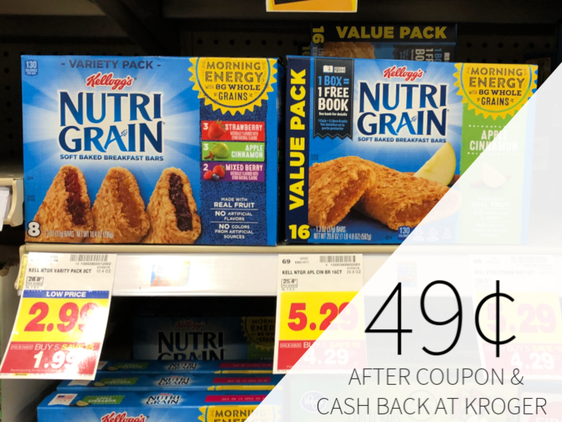 Kellogg's Nutrigrain Bars As Low As 49¢ At Kroger