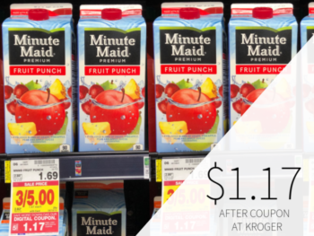 Minute Maid Fruit Punch Just $1.17 At Kroger