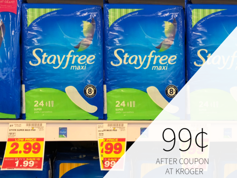 New Stayfree & Playtex Coupons - Pads As Low As 99¢ At Kroger