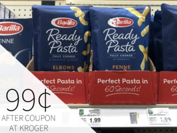 Barilla Ready Pasta Just 99¢ At Kroger