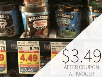 Ben & Jerry's Ice Cream Just $3.49 At Kroger