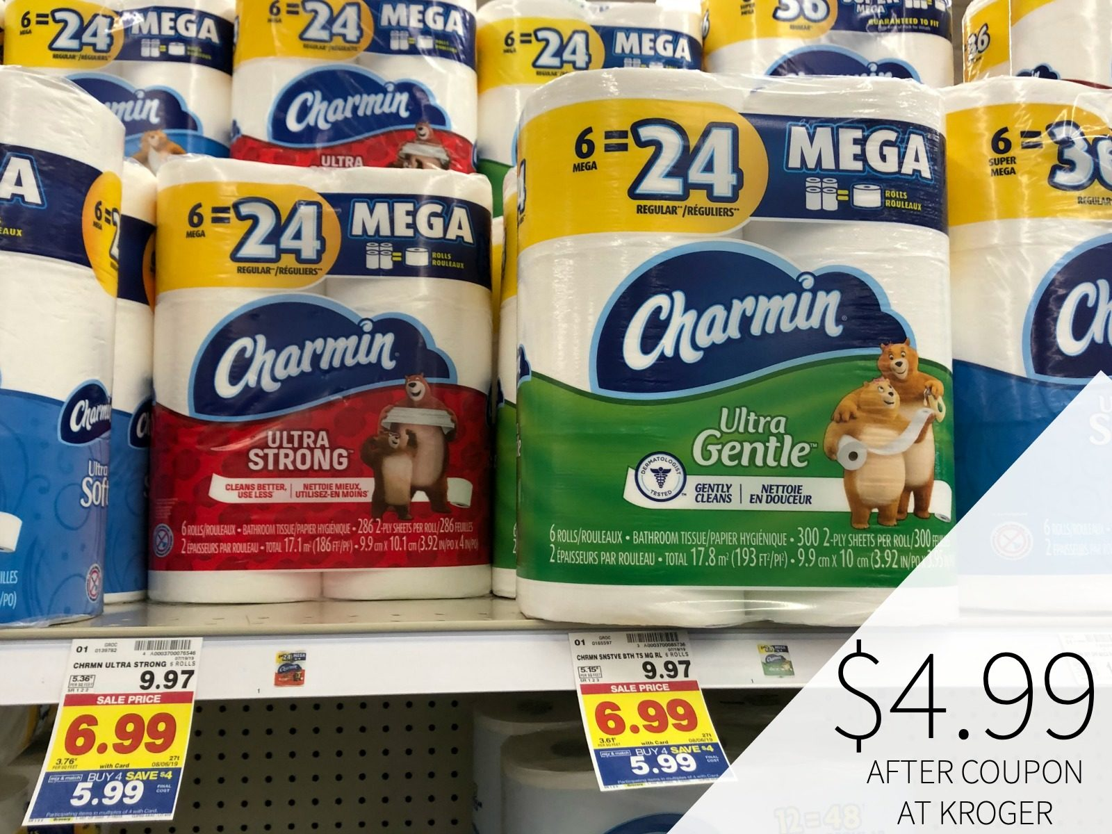 Charmin Only .99 & Bounty Only .99 At Kroger 2