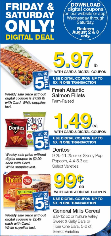Load Your Coupons For The 2 Days Of Digital Deals (Valid 8/2 & 8/3)