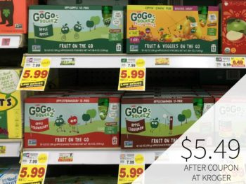 GoGo Squeez As Low As $2.49 At Kroger 1