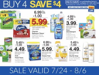 Kroger Household Mini Mega Buy 4 Save $4 Sale - Full Inclusion List