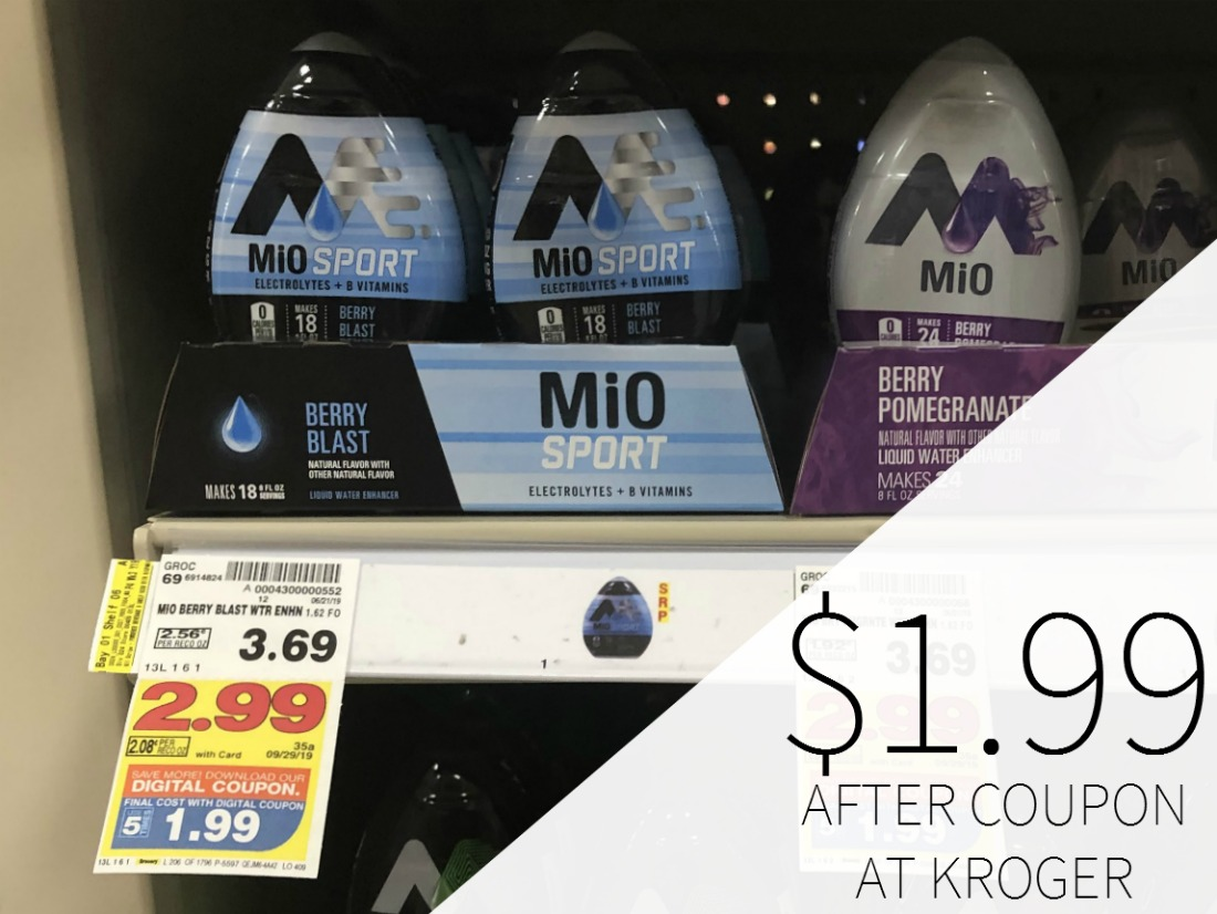 Mio & Crystal Light Water Enhancer Just .99 At Kroger