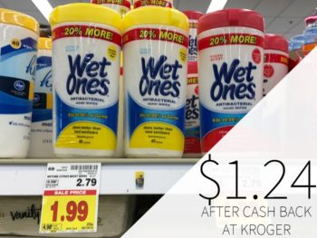 Wet Ones Hand Wipes Just $1.62 Per Canister At Kroger