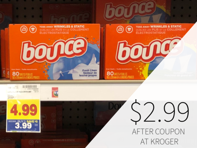 Bounce Sheets Only $2.99 During The Kroger Mega Sale
