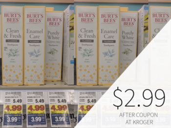 Burt's Bees Toothpaste Only $2.99 At Kroger