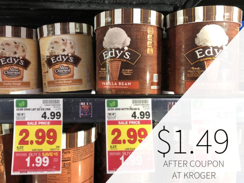 Edy's Ice Cream Just $1.49 At Kroger