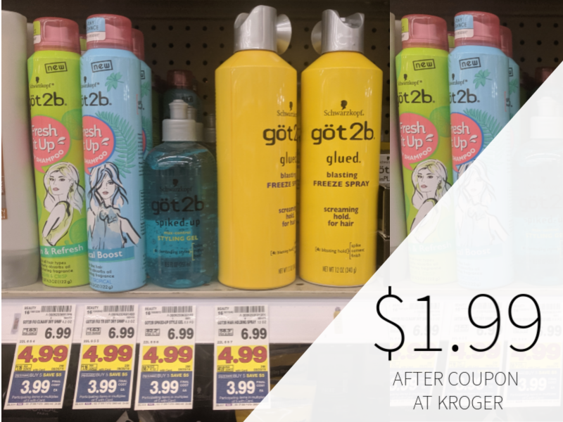 Got2B Hair Styling Products Only $1.99 At Kroger