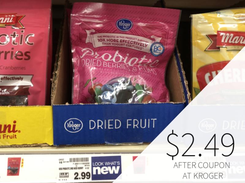 Kroger Probiotic Dried Fruit Just